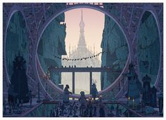 Kilian Eng is one of the most skilled digital illustrators working today, with a lengthy client list including HBO, Wired, Warner Bros and The New York Tim. Fantasy Kunst, Fantasy Art, Kilian Eng, Bg Design, Cities, Ligne Claire, Environment Concept Art, Historical Art, Environmental Art