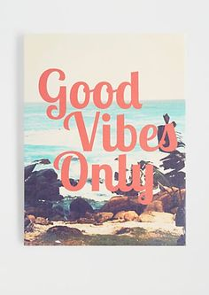 Good Vibes Only Stretched Canvas | rue21