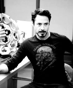 Black and White MY EDIT bts robert downey jr. robert downey jr facebook iron man tony stark rdj The Avengers avengers on set tbt