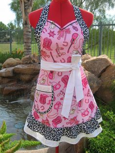 Aprons /  Full Apron / Cowgirl  Up / Sweet Lolita  / by sassyapron, $32.95