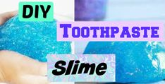 How to make slime with just toothpaste – Slime online Toothpaste Slime, Easy Slime Recipe, Glitter Slime, How To Make Slime, Slime Videos, Crafts For Kids, Easy Meals, Recipes, Diy