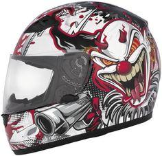 71f4ecce3d1 Cyber US-39 Lethal Threat Design Killer Clown Motorcycle DOT Helmet Mens  Motorcycle Helmets