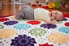 Granny squares. Free pattern
