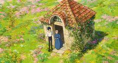 Studio Ghibli Art, Studio Ghibli Movies, Howls Moving Castle Wallpaper, Howl's Moving Castle, Photo Polaroid, Howl And Sophie, Anime Screenshots, Animal Crossing, Studios