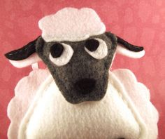 Felt Animal Holiday Ornament  Murray the Sheep by Squshies on Etsy
