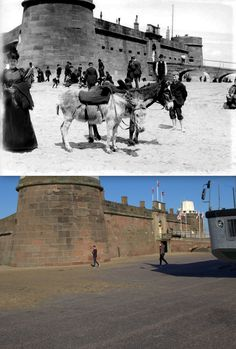 Fort Perch, New Brighton, 1892 and 2014 Old Pictures, Old Photos, Liverpool History, New Brighton, Southport, Seaside, Mount Rushmore, The Past, Celebrity