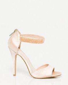 Sandale+de+satin+à+bride+de+cheville+pailletée