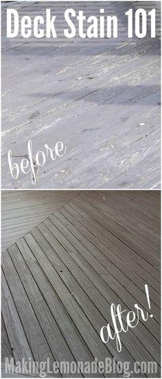 Wow, a tutorial on how to stain a deck took this old deck from scary to looking like a resort! I WANT this in my house!
