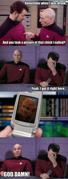 Captain Jean Luc Picard of the USS Enterprise!!!