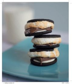 Use Oreos instead of Graham crackers. | 39 S'mores Hacks That Will Change Your Life