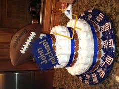 NY Giants Diaper Cake!  Homemade!