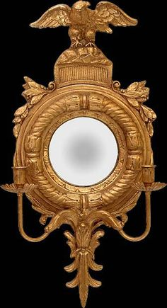 Girandole Sconce with Left Gazing Eagle. Love federal mirror for the foyer.
