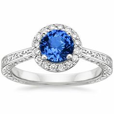 Platinum Sapphire Contessa Ring from Brilliant Earth