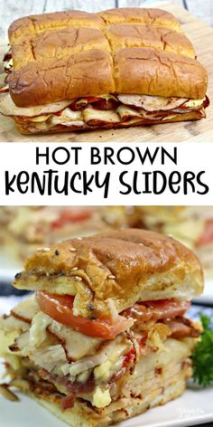 Delicious Dinner Recipes, Appetizer Recipes, Yummy Food, Meat Appetizers, Brunch Recipes, Hot Sandwich Recipes, Soup And Sandwich, Slider Sandwiches, Hot Turkey Sandwiches