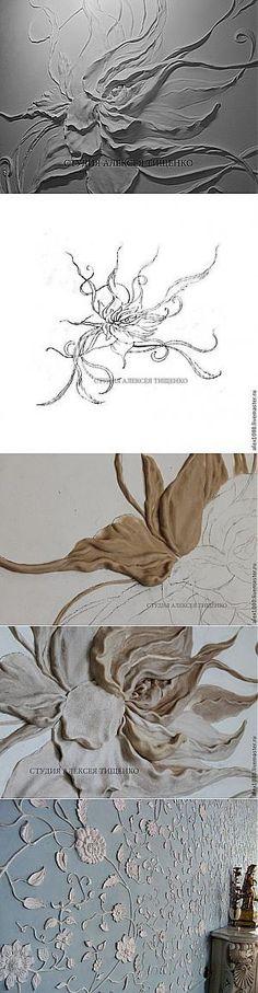 Барельеф 'Цветок' - Ярмарка Мастеров - ручная работа, handmade
