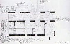 Aris Konstantinidis: Week-end House @ Anavissos Weekend House, Random House, Modern Architecture, Floor Plans, How To Plan, Villas, Architectural Drawings, Modernism, Space