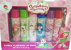 Strawberry Shortcake 6 Pack Flavored Lip Balm Unknown http://www.amazon.com/dp/B009MQTOO6/ref=cm_sw_r_pi_dp_ZssFwb16Z0ZBJ