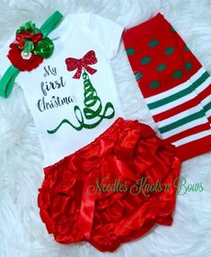 eda11ea29b63 14 Best Baby girl Christmas outfits images