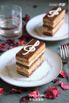 opera cake is deeelicious! Mini Desserts, Christmas Desserts, Chocolate Desserts, No Bake Desserts, Delicious Desserts, Fancy Cakes, Mini Cakes, Cupcake Cakes, Cupcakes