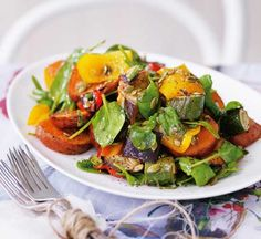 Roasted vegetable salad with balsamic dressing