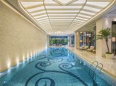 The swimming pool of The Grand Mansion, A Luxury Collection Hotel, Nanjing by HBA Design.