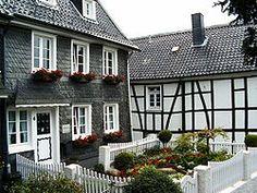 Typical Houses in Solingen-Gräfrath