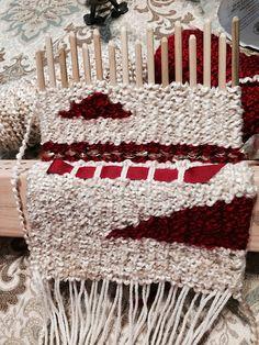 Work In Progress - Peg Loom Wall Hanging   by Fiddlekate (Katie Waller)
