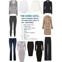"""Tim Gunn's Essential 10 List"" by charlotte-mcfarlane on Polyvore"