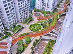 Otis Social Space Landscape Extrusion Composition