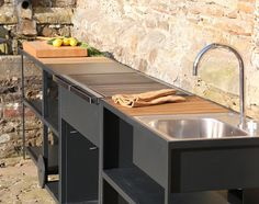 Outdoor kitchen by Röshults. Summer will come back! #bbq #kitchen #roshults by roshults