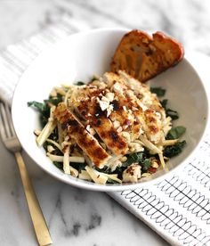 Parmesan crusted chicken caesar salad + Blue Apron giveaway! Seriously one of the best salads I've ever had!