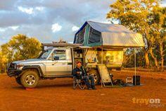 off road camper - outback australia - long range. Slide on camper gull wing land cruiser 70 series.