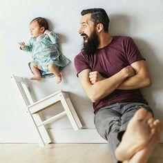 Pais barbudos são os melhores! #BEARD #bearded #dad #beardeddad #barba #barbudo #instabeard #beardpower