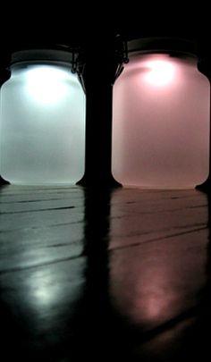 DIY Sun Jar ~ Mason Jars and solar garden lights