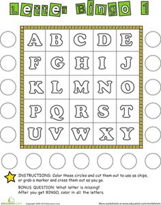 Alphabet Bingo is a fun on-the-go game! This printable is a great way to…
