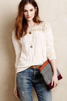 Kellen Crochet Pullover