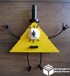 Lego Tv, Desenhos Gravity Falls, Gravity Falls Bill, Amazing Lego Creations, Lego Games, Bill Cipher, Craft Day, Legoland, Getting Organized