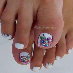 Александра (@aleksa452) • Фото и видео в Instagram White Toe Nail Polish, Toe Nail Color, Toe Nail Art, Nail Colors, Pedicure Designs, Pedicure Nail Art, Toe Nail Designs, Pretty Toe Nails, Gorgeous Nails