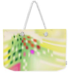 Yellow Weekender Tote Bag featuring the digital art Digital Mind by Ron Labryzz
