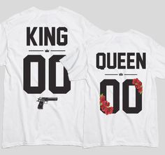 Tricouri cu mesaj pentru cupluri King and Queen Guns and Roses - Tricouri cu mesaje Guns And Roses, Queen, King, Tops, Fashion, Moda, Fashion Styles, Guns N Roses, Fashion Illustrations