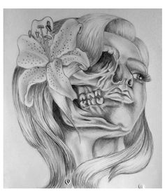 Skull Tattoos For Girls | Skull Girl Tattoo Design by ~AbigailRawlings on deviantART Tattoos For Women, Feminine Skull Tattoos, Unique Tattoos, Beautiful Tattoos, Face Tattoos, New Tattoos, Sleeve Tattoos, Girl Tattoos, Tatoos
