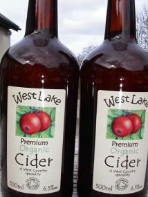 West Lake Organic Farm, Devon. Our organic cider is an exceptional blend of organic apples slowly fermented over twelve months to ensure a rich smooth depth of flavour http://www.organicholidays.co.uk/at/2359.htm