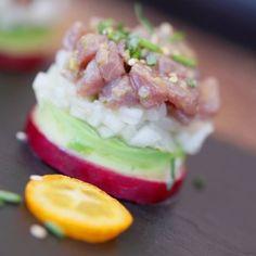 Tartar de atún rojo de almadraba con rábano y aguacate