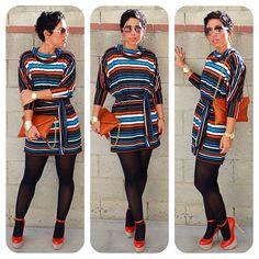 #DIY Striped Dress + Pattern & Fabric Options! www.mimigstyle.com