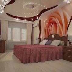 Diva Bedroom, Woman Bedroom, Kitchen Ceiling Design, False Ceiling Design, Dream Home Design, House Design, Bedroom Colors, Bedroom Decor, Basement Bar Designs