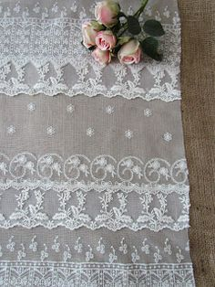 diy lace table runner