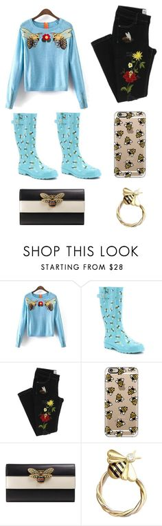 """""""Queen BEE"""" by im-karla-with-a-k ❤ liked on Polyvore featuring Casetify, Gucci and Cartier"""