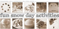 Under The Table and Dreaming: Fun Snow Day Activities for the Kids: Playing with Snow. Lots of fun ideas - bring on the snow! Snow Activities, Winter Activities For Kids, Crafts For Kids, Outdoor Activities, Bird Seed Ornaments, Snow Fun, Snowy Day, Winter Kids, Kids Playing