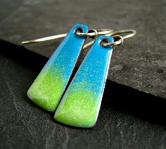 Colour Splash! Torch Enamel Earrings