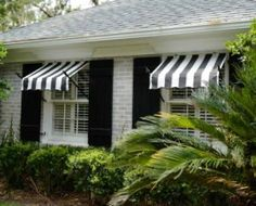 """Spear Window Awnings have a classic design using real wrought iron pipe with welded finial ends.Unlike other awning companies that create the """"look"""" of wrought iron, we have designed our spear window awnings using Real Wrought Iron Pipe and Finials Awning Over Door, Door Overhang, House Awnings, Patio Awnings, Canvas Awnings, Aluminum Awnings, Fabric Awning, Diy Awning, Hot Tub Room"""